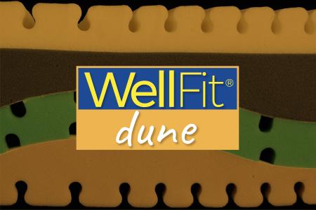 WellFit Dune il materasso per chi fa sport e palestra. Il tuo personal trainer mentre dormi